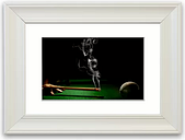 'Smoking Cue Cornwall' Framed Photographic Print East Urban Home Size: 93 cm H x 126 cm W, Frame Options: White