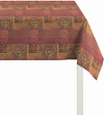 Indian Summer Tablecloth Apelt Colour: Red, null: null