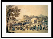 'The Approach of the Emperor of China to His Tent in Tartary to Receive the British Ambassador, George, 1St Earl Macartney' Painting Astoria Grand For