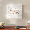 Bonfire Nights Copper - Wrapped Canvas Typography Print East Urban Home Size: 109cm H x 109cm W x 4cm D