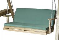 Swing Seat Garden Cushion Symple Stuff Fabric: Green