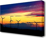 Wind Farm Landscape - Wrapped Canvas Photograph Print