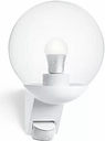 Outdoor Armed Sconce with Motion Sensor Steinel Fixture Finish: White