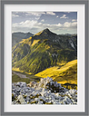 Mountains and Valley of the Lechtal Alps in Tyrol Framed Photographic Art Print East Urban Home Size: 40 cm H x 30 cm B, Rahmenoptionen: Mattes Grau
