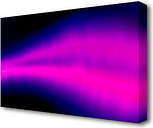 Cerise Sound Wave - Wrapped Canvas Graphic Art on Wrapped Canvas