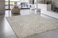 Angelica Hand Knotted Ivory/Chrome Rug Willa Arlo Interiors Size: Rectangular 120 x 170cm