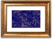 'Golden Purple' Framed Graphic Art East Urban Home Size: 93 cm H x 126 cm W, Frame Options: Gold