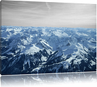 Alps with Snow Peaks Photographic Print on Canvas