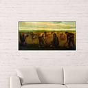 'Farmers' by Vincent Van Gogh Painting Print East Urban Home Size: 50cm H x 100cm W x 1.8cm D
