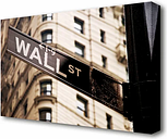 'Wall Street Architecture' Photographic Print on Wrapped Canvas East Urban Home Size: 101.6 cm H x 142.2 cm W