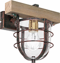 Stern 1-Light Armed Sconce Williston Forge Finish: Brown