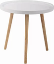 Lachlan Side Table Fjørde & Co Tabletop Colour: White