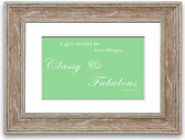 'Classy and Fabulous' - Picture Frame Typography Print on Paper East Urban Home Size: 93cm H x 126cm W x 1cm D, Frame Option: Walnut