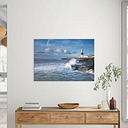'Portland Bill Lighthouse, Dorset' Photographic Print House of Hampton Size: 100cm H x 70cm W