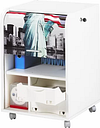 Caufield 1 Door Storage Cabinet Rebrilliant Finish/Colour: White