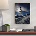 Ski Lift Skiing Snowboarding Alps Photographic Print