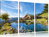 Lovely House in the Alps 3-Piece Photographic Print Set on Canvas East Urban Home