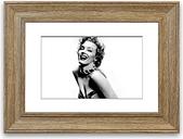 'Marilyn Monroe 4 Cornwall' - Picture Frame Photograph Print on Paper East Urban Home Size: 40cm H x 50cm W x 1cm D, Frame Option: Teak