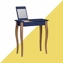 Tanna Dressing Table with Mirror Hashtag Home Colour: Navy Blue