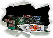 Poker Table with Cards in Las Vegas Wall Sticker East Urban Home