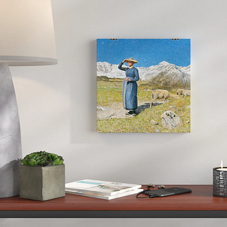 High Noon in the Alps by Giovanni Segantini Painting Print