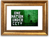 'One Nation under CCTV' - Picture Frame Graphic Art Print on Paper East Urban Home Size: 40cm H x 50cm W x 1cm D, Frame Option: Gold