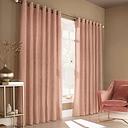 Edison Grommet Room Darkening Curtains Fleur De Lis Living Colour: Blush Pink, Panel Size: 168 W x 137 D cm