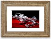'Formula One Prototype' Framed Graphic Art East Urban Home Size: 93 cm H x 126 cm W, Frame Options: Teak