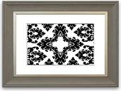 'Diamond Garden' Framed Graphic Art East Urban Home Size: 70 cm H x 93 cm W, Frame Options: Grey