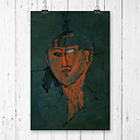 'Testa Rossa' by Amedeo Modigliani Painting Print East Urban Home