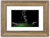 'Smoking Cue Cornwall' Framed Photographic Print East Urban Home Size: 50 cm H x 70 cm W, Frame Options: Teak