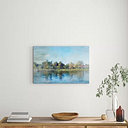 'Lake Balboa at Summer' by Irena Orlov Painting Print on Wrapped Canvas East Urban Home Size: 51cm H x 76cm W x 3.81cm D
