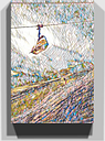 'Ski Lift Skiing Snowboarding Alps' Graphic Art on Wrapped Canvas