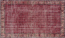 Hand Knotted Red/Cream Rug Blue Elephant