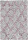 Shag Grey/Pink Rug Sehrazat
