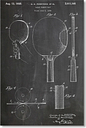 Table Tennis Racket by House of Borders Graphic Art in Grey