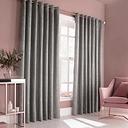 Edison Grommet Room Darkening Curtains Fleur De Lis Living Colour: Silver, Panel Size: 117 W x 183 D cm