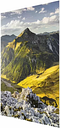 'Mountains and Valley of the Lechtal Alps in Tyrol' Photograph on Glass East Urban Home Size: 100 cm H x 75 cm W