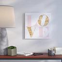 Build on Love Romance - Wrapped Canvas Typography Print East Urban Home Size: 109.22cm H x 109.22cm W x 5.08cm D