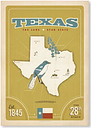 State Pride Print Texas by Anderson Design Group Vintage Advertisement in Green Americanflat