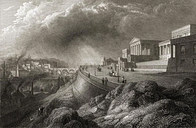 The New Royal High School, Edinburgh, from 'Select Views of Some of the Principal Cities of Europe, Engraved Published in London 1832 by E. Goodall Ar