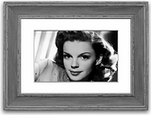 'Judy Garland Retro' Framed Photographic Print East Urban Home Size: 50 cm H x 70 cm W, Frame Options: Blue