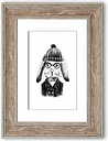 'Clever Bunny' - Picture Frame Graphic Art Print on Paper East Urban Home Size: 126cm H x 93cm W x 1cm D, Frame Option: Walnut