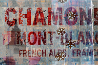 'French Alps' by  Textual Art on Wrapped Canvas