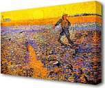 'Sower Under the Sun' by Vincent Van Gogh Oil Painting Print on Wrapped Canvas East Urban Home