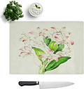 Glass Illustration of Pink Dendrobium Orchids Chopping Board East Urban Home