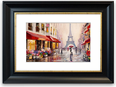 'Paris Streets Cornwall Living Room' - Picture Frame Photograph Print on Paper