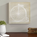 Victor Bicycle' by Blakely Home Graphic Art on Canvas Brambly Cottage Size: 109cm H X 109cm W