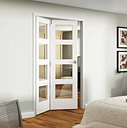 Veneer Bi-Fold Doors Primed Curated by Jeld Wen Door Size: 204.7cm H x 147.1cm W x 9.2cm D