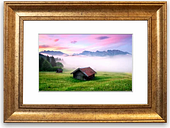 'Alps Meadow Germany' Framed Photographic Print East Urban Home Size: 93 cm H x 70 cm W, Frame Options: Gold